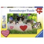 Ravensburger pusle 2x24 tk Kassid 4+
