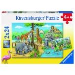 Ravensburger pusle 2x24 tk Loomaaed 4+