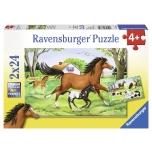 Ravensburger pusle 2x24 tk Hobuste maailm 4+