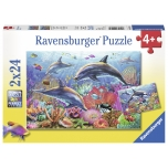 Ravensburger pusle 2x24 tk Veealune maailm 4+