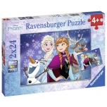 Ravensburger pusle 2x24 tk Lumekuninganna 4+