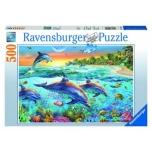 Ravensburger pusle 500 tk Delfiinid 9+