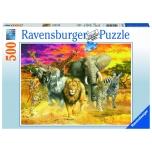 Ravensburger pusle 500 tk Aafrika loomad 9+