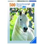 Ravensburger pusle 500 tk Valge hobune 9+