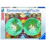 Ravensburger pusle 3000 tk Antiikne maakaart 10+