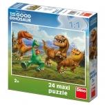 Dino põrandapusle 24 tk Dinosaurused 2+