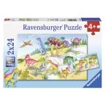 Ravensburger pusle 2x24 Dinosaurused