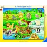 Ravensburger plaatpusle 14 tk Loomaaed