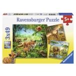 Ravensburger pusle 3*49 tk. Maailmaloomad