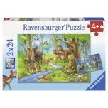 Ravensburger pusle 2x24 Metsloomad