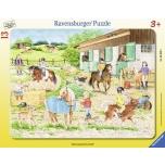 Ravensburger plaatpusle 13 tk. Ratsalaager