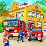 Ravensburger puzzle 3*49 tk Tuletõrjebrigaad tegutsemas