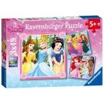 Ravensburger pusle 3*49 tk Princess