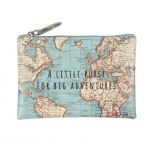 "Sass & Belle Vintage Map rahakott ""A Little Purse For Big Adventures"""