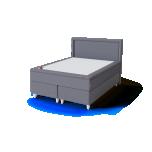 Sleepwell BLACK CONTINENTAL kontinentaalvoodi 160x200cm - eripakkumine kuni 10.03