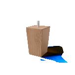 Sleepwell puidust koonusjalad 4tk 10cm erinevad värvid