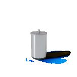 Sleepwell silndrikujuline metalljalg 10cm 4tk harjatud hõbedane