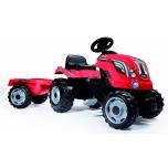 Smoby traktor Farmer XL +käru, punane