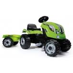 Smoby traktor Farmer XL +käru, roheline