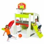 Smoby mängukeskus korvpallikorvi ja liumäega