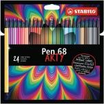 Stabilo Pen 68 tindipliiats 24 värvi