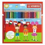 Stabilo värvipliiats 30 värvi Color kuusnurksed