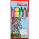 Stabilo Pen 68 tindipliiats 12 värvi