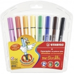 Stabilo Trio Scribbi viltpliiats 8 värvi jäme