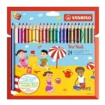 Stabilo Trio värvipliiats 24 värvi jäme