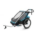 THULE lastekäru Chariot Sport2 kahele lapsele Thule Blue/Black