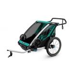 THULE lastekäru Chariot Lite2 kahele lapsele Blue Grass/Black