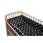 Troll 2-osaline voodipesukomplekt Must Täht 100x130cm