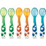 Munchkin värvilised kahvlid ja lusikad 6tk