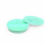 Twistshake Divided Plate taldrik roheline