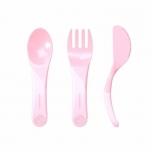 Twistshake Learn Cutlery söögitarvikud heleroosa