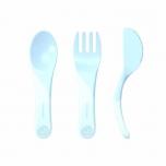 Twistshake Learn Cutlery söögitarvikud helesinine
