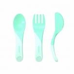 Twistshake Learn Cutlery söögitarvikud heleroheline