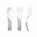 Twistshake Learn Cutlery söögitarvikud valge