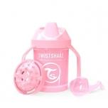 Twistshake Mini Cup joogitops 230ml heleroosa