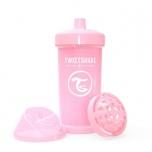 Twistshake Kid Cup joogitops 360ml heleroosa