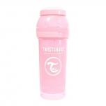 Twistshake Anti-Colic lutipudel 260ml heleroosa