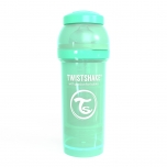 Twistshake Anti-Colic lutipudel 260ml roheline