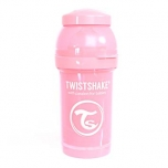 Twistshake Anti-Colic lutipudel 180ml heleroosa