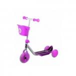 STIGA 3-rattaline laste tõukeratas korviga roosa
