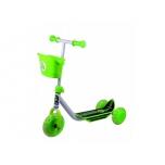Stiga 3-rattaline laste tõukeratas korviga must/roheline