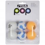 STIGA lauatennise pallid Pop Smash 6tk värvilised